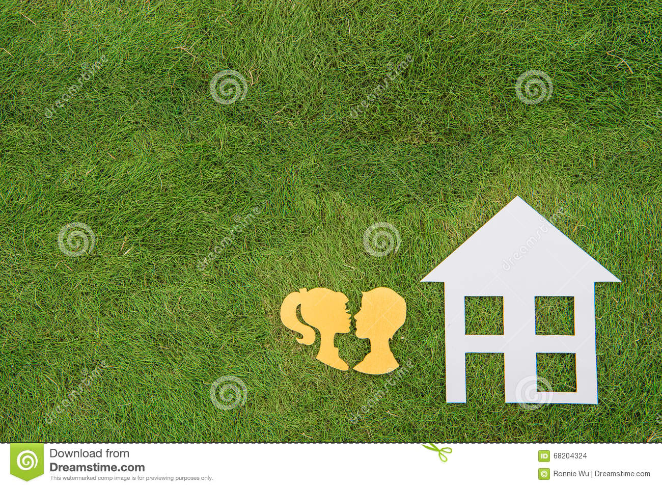 Build Green Homes couple build green homes, green living stock photo - image: 68204324