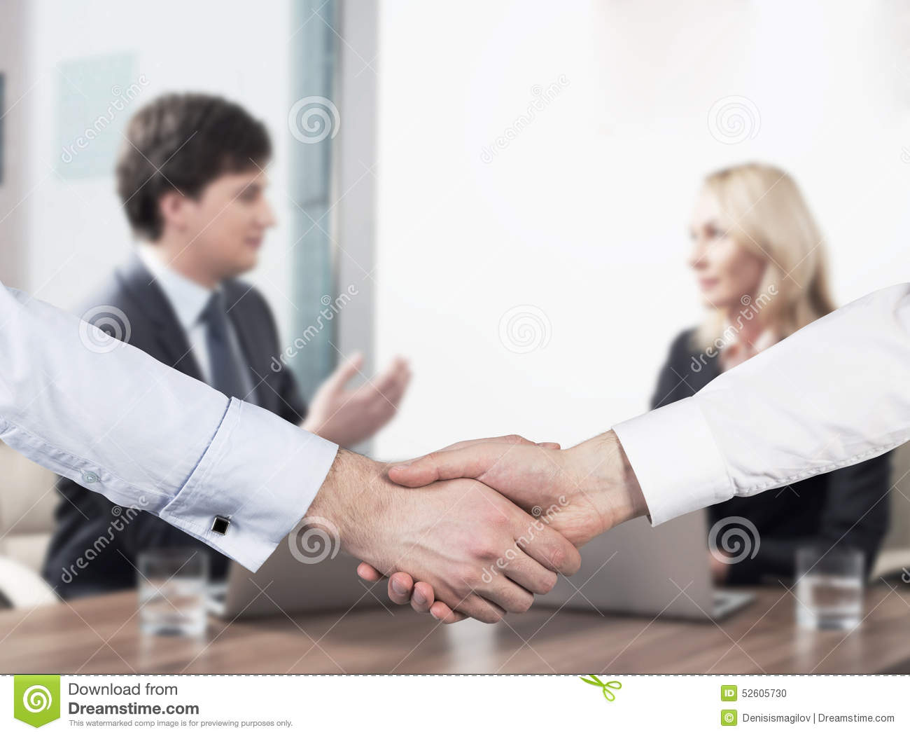 Business people handshake greeting deal at work photo free download - Couple At The Business Meeting Handshake As A Concept Of Successful Deal Stock Photo