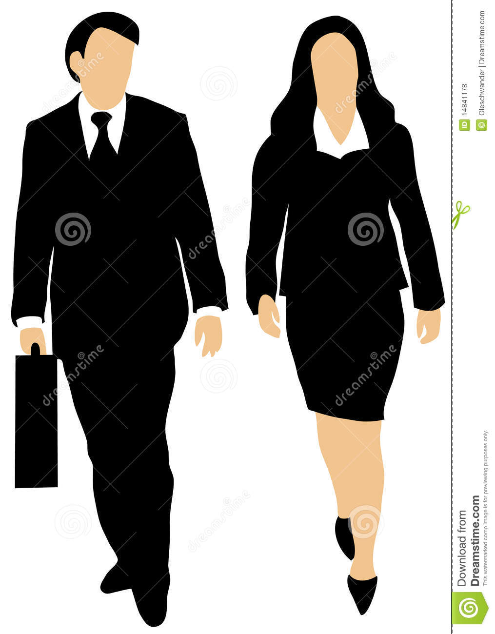 Couple Of Business People Walking Forward Royalty Free ...