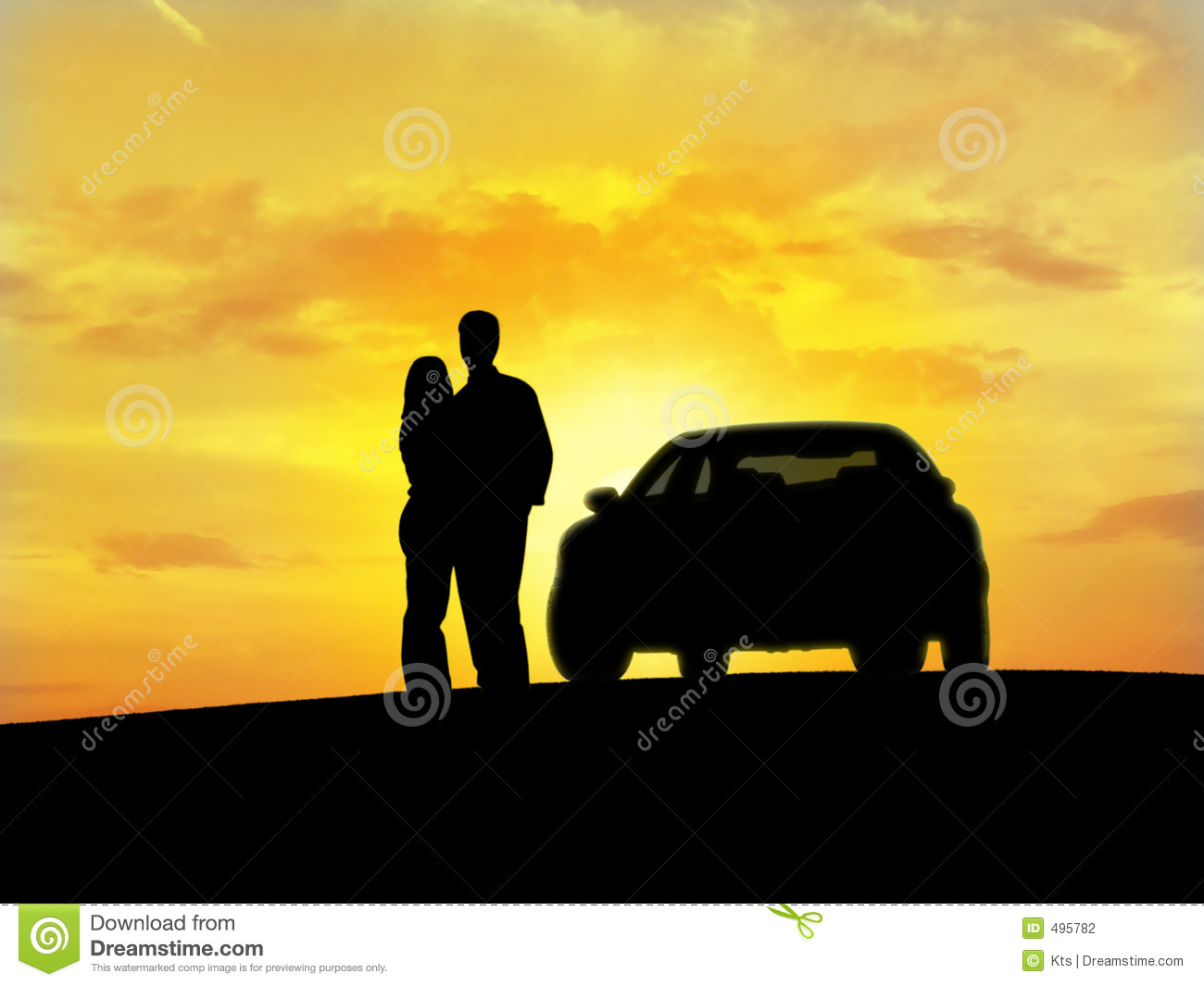 Couple Beside The Car Stock Photo Image Of Happy Clarity 495782
