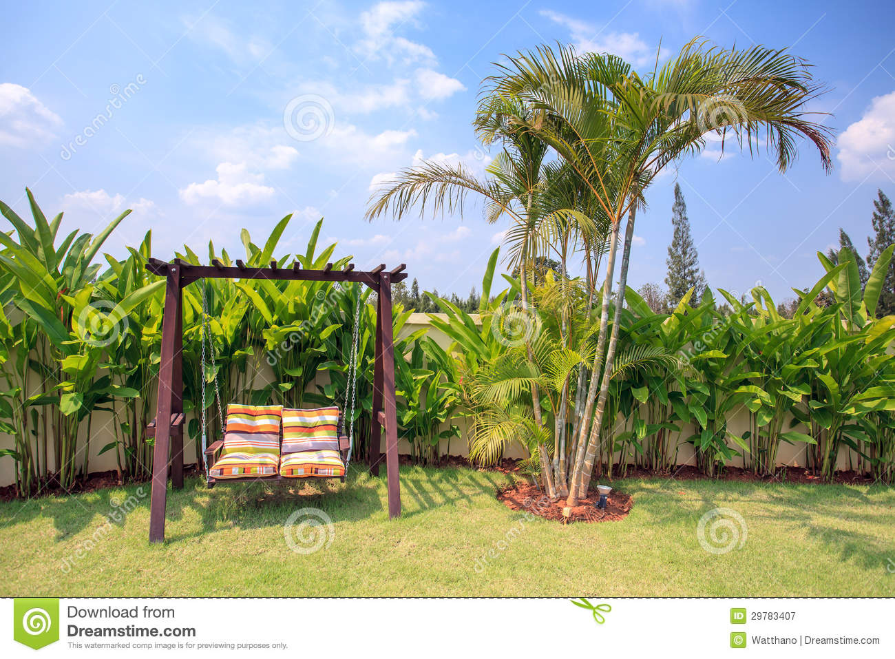 Couple Chair In The Garden Background Royalty Free Stock Photography ...
