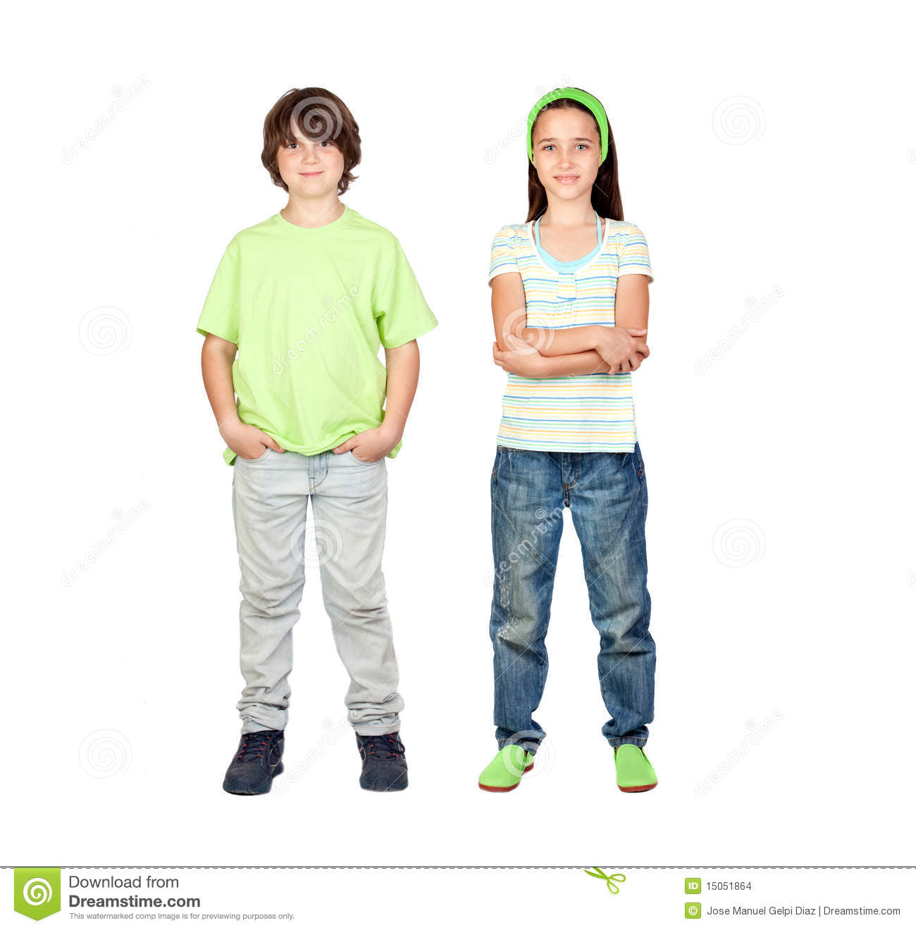 couple of children standing stock images image 15051864