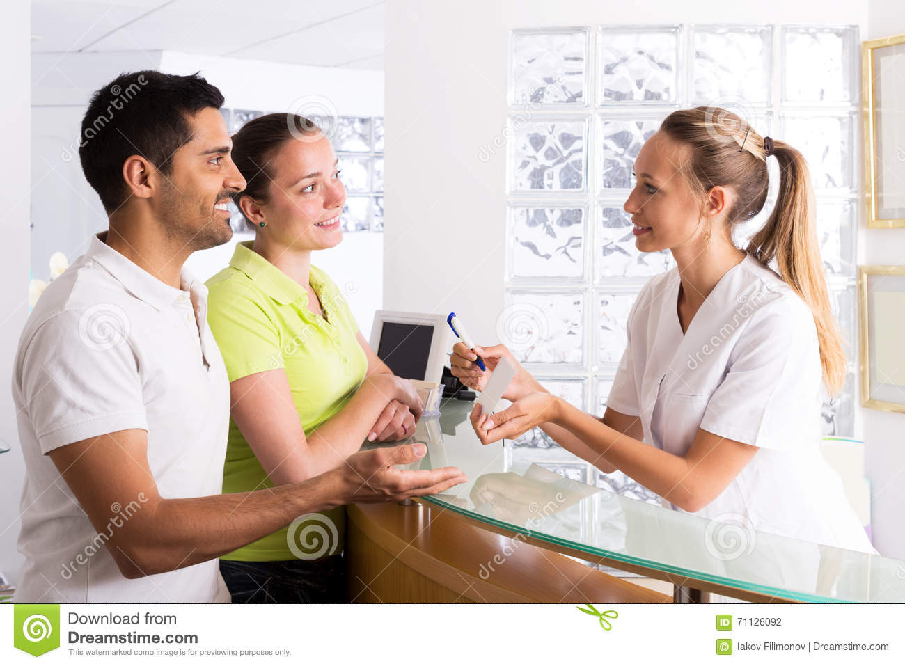 Couple In Clinic Family Planning Royalty Free Stock Image