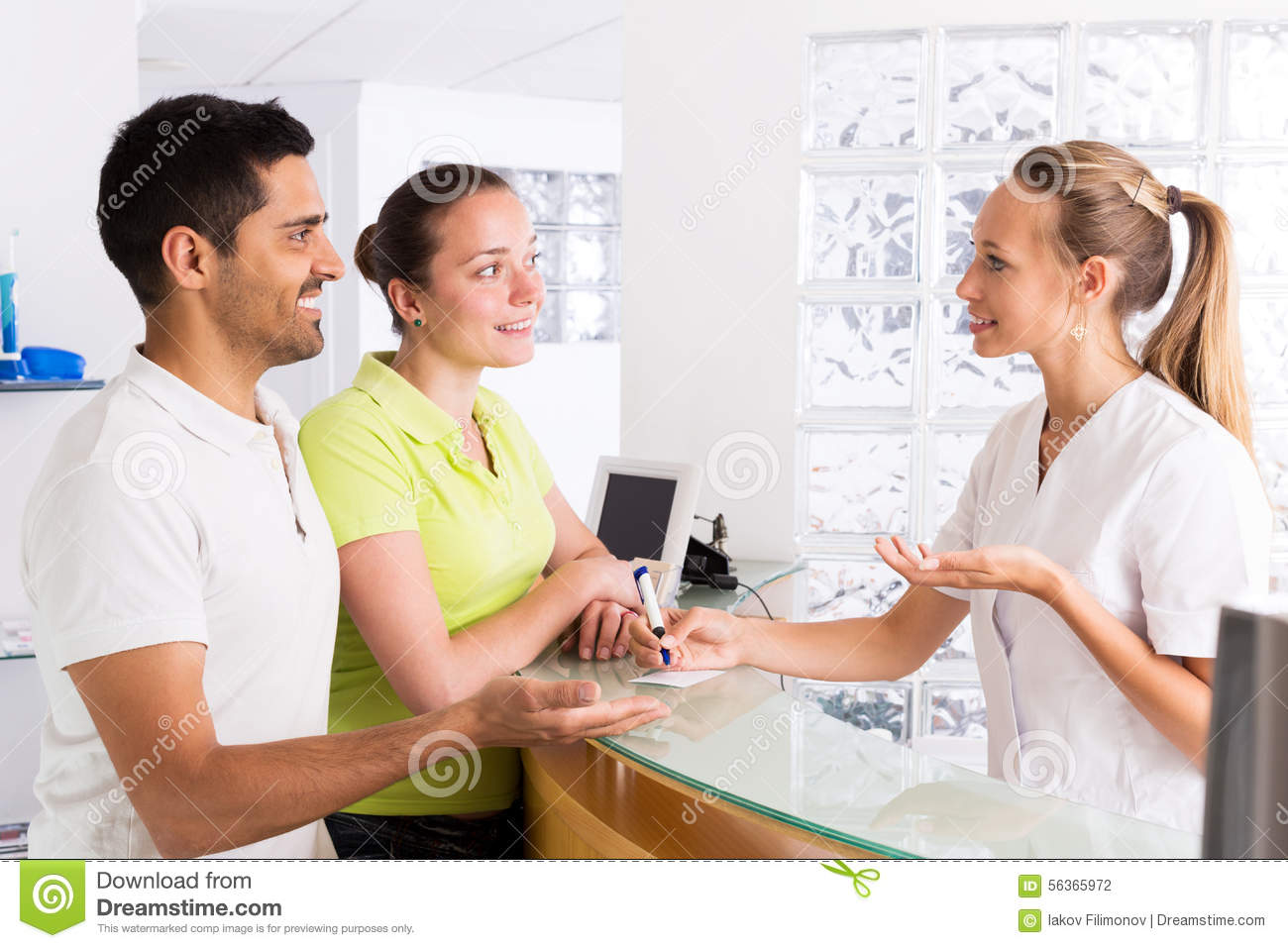 Couple in clinic family planning stock photo image of for Www family planning com
