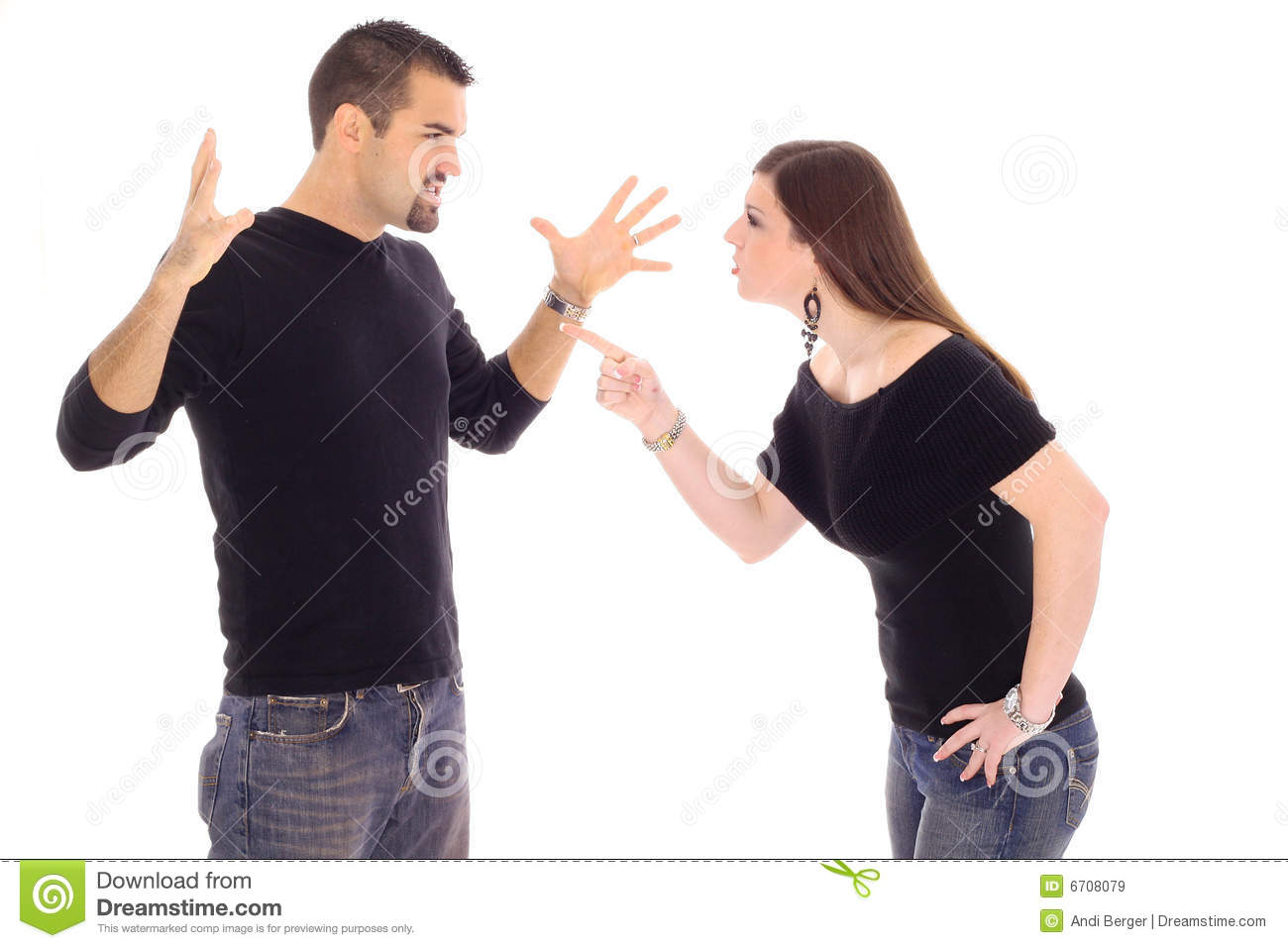 Couple Conflict Royalty Free Stock Images - Image: 6708079