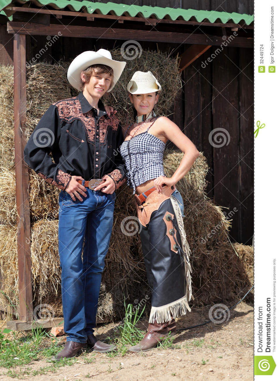 A Couple Of Cowboys Stock Images Image 32449724