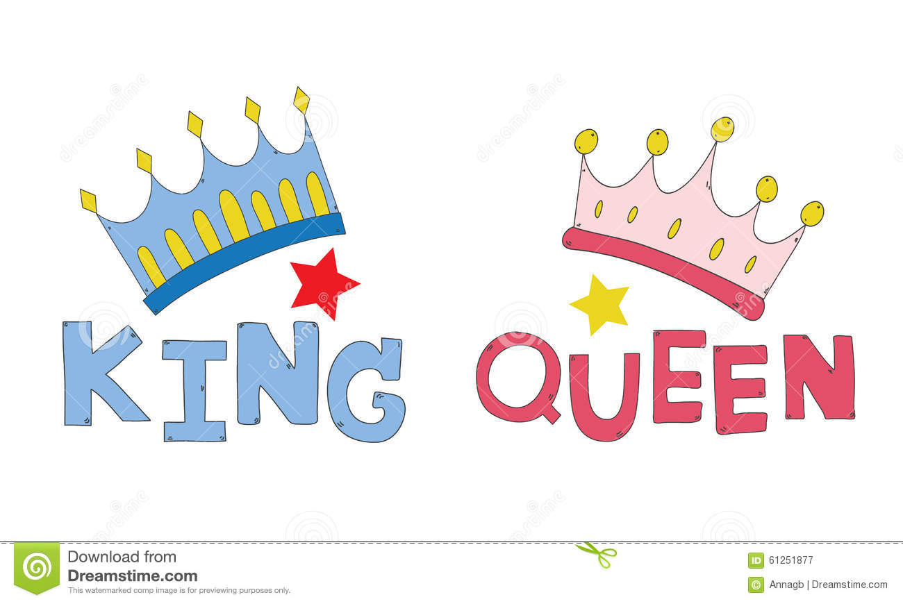 Couple shirt design download - Couple Crown King And Queen Hand Drawn For T Shirt Couple Or Decorate Vector