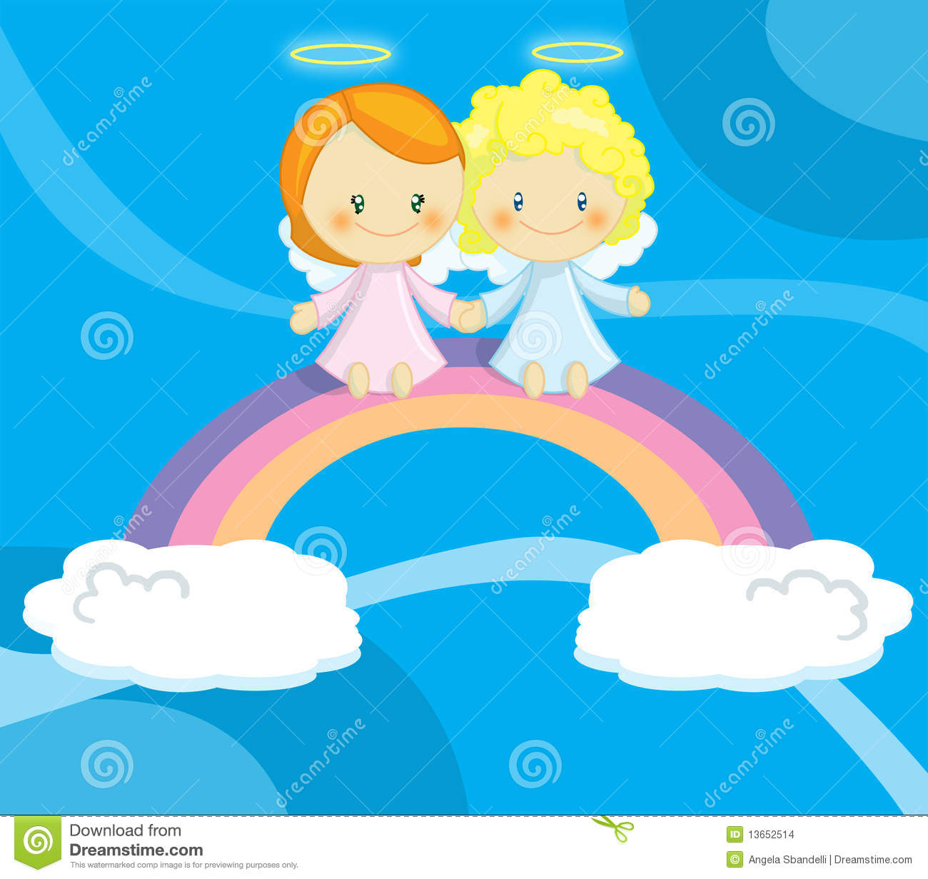 Couple Of Cute Little Angels Stock Images - Image: 13652514