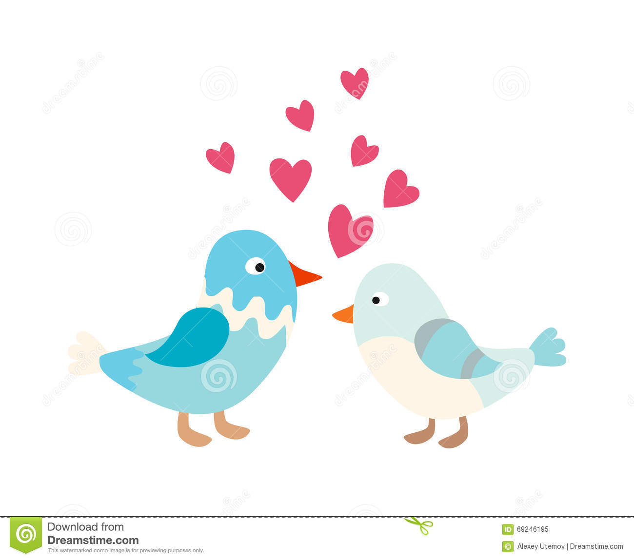 Cute cartoon love birds - photo#11