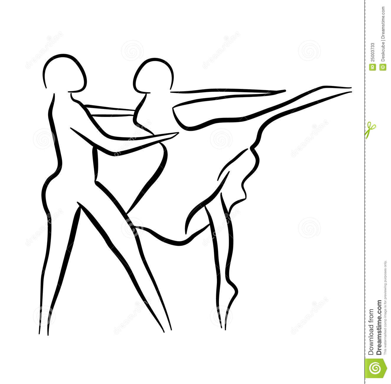 Line Drawing Couple : Couple dancing sketch concept stock vector illustration