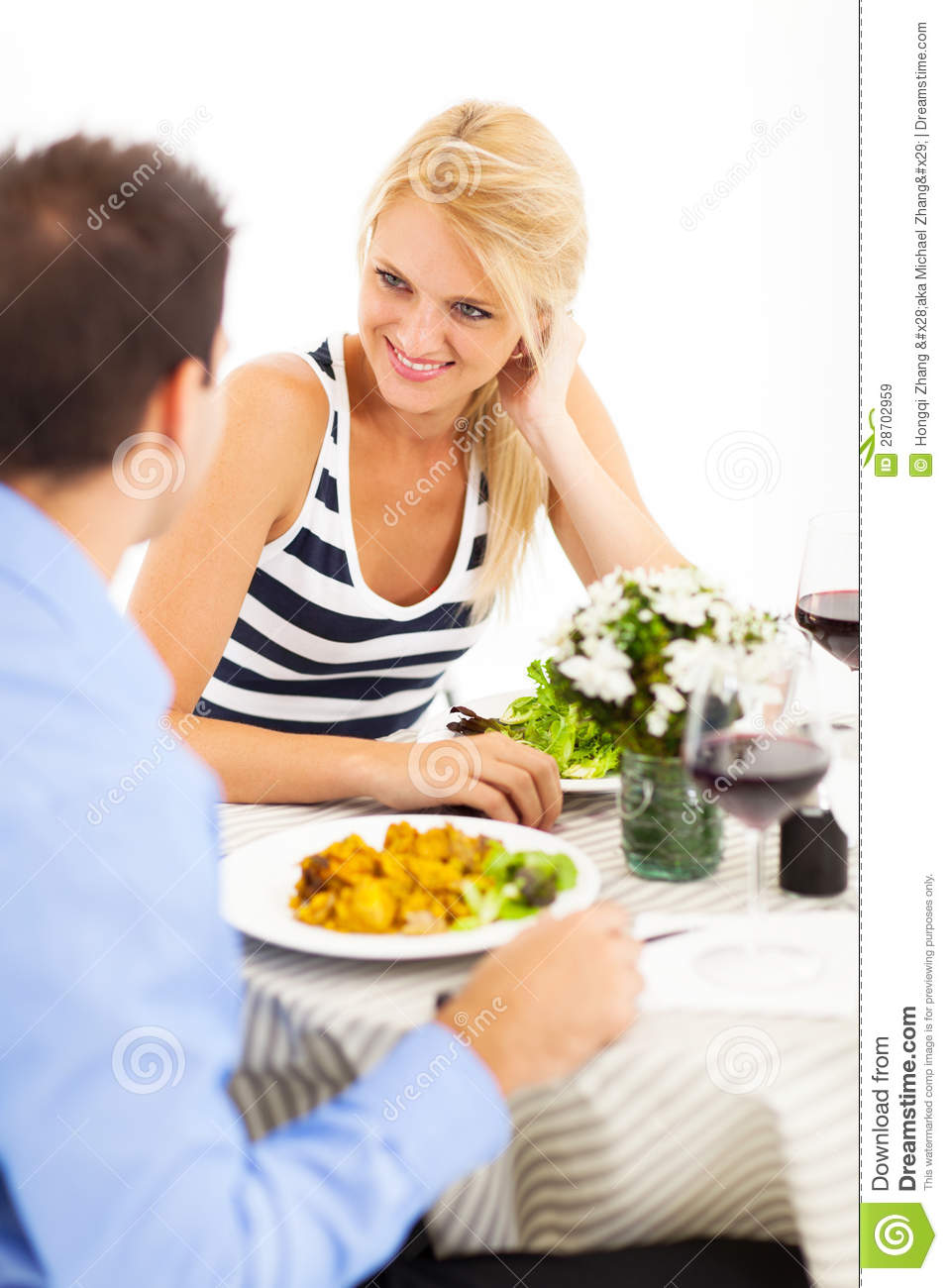 Couple Dining Out Royalty Free Stock Images Image 28702959