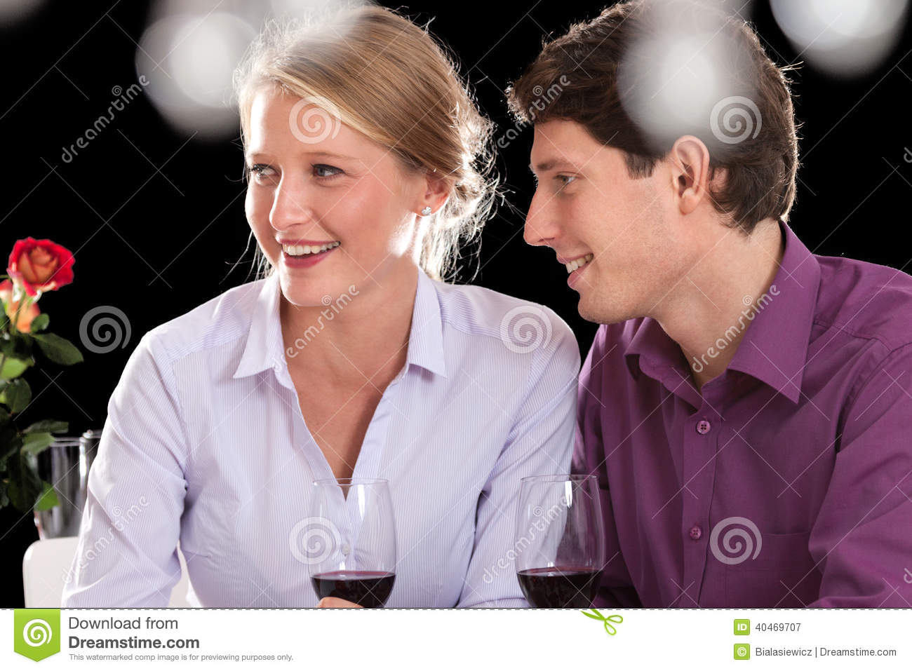 Couple on dinner after work