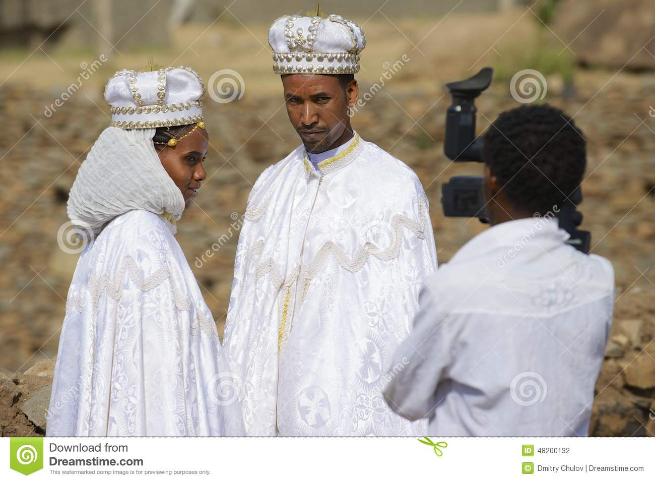 Couple Do Wedding Photography In Traditional Dresses, Axum ...