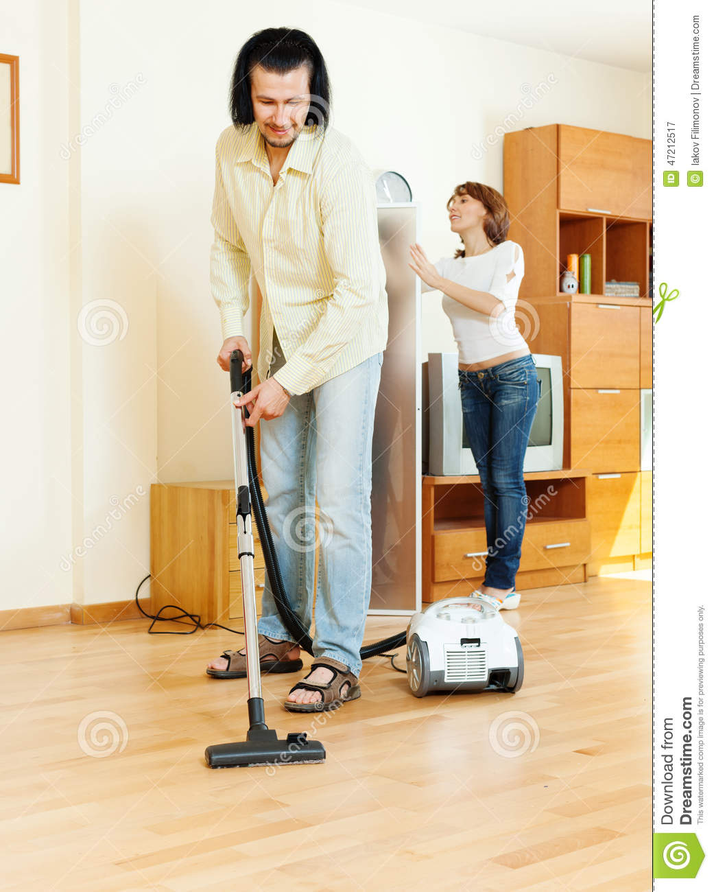 Couple are doing house cleaning stock image image 47212517 for House cleaning stock photos