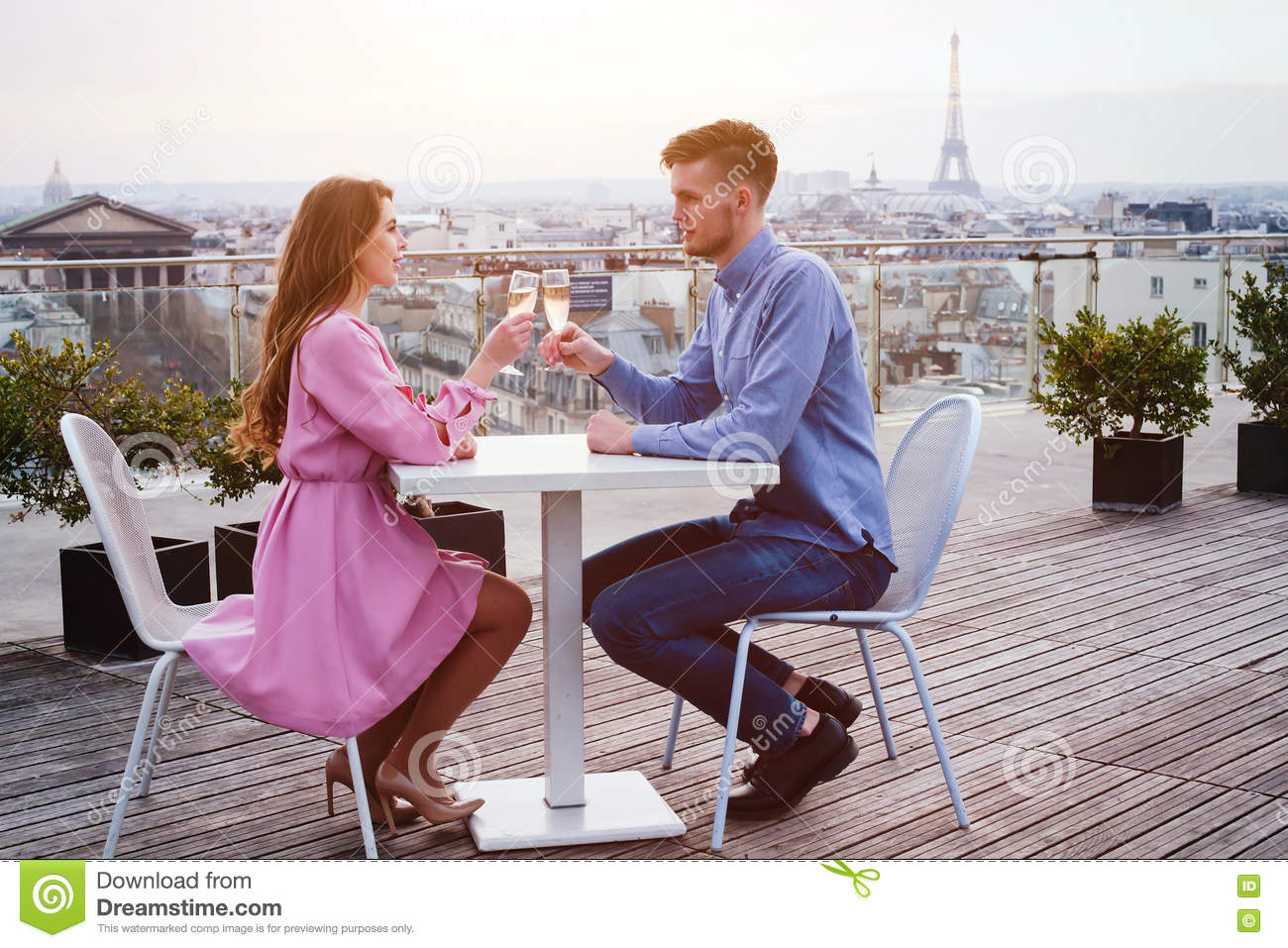 Couple Drinking Champagne In Luxury Restaurant Stock Image Image Of Celebrate Dream 71979045