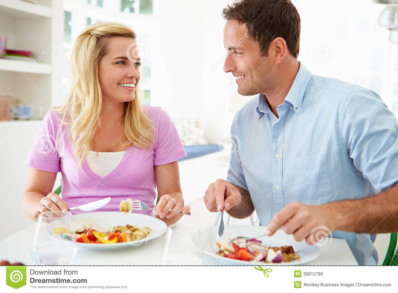 Relaxed Person Eating Food