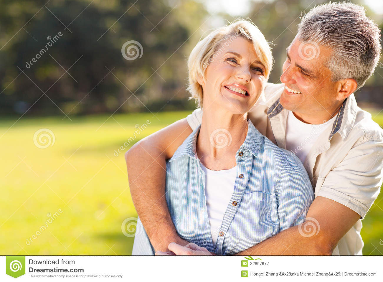 Couple Embracing Outdoors Royalty Free Stock Photography