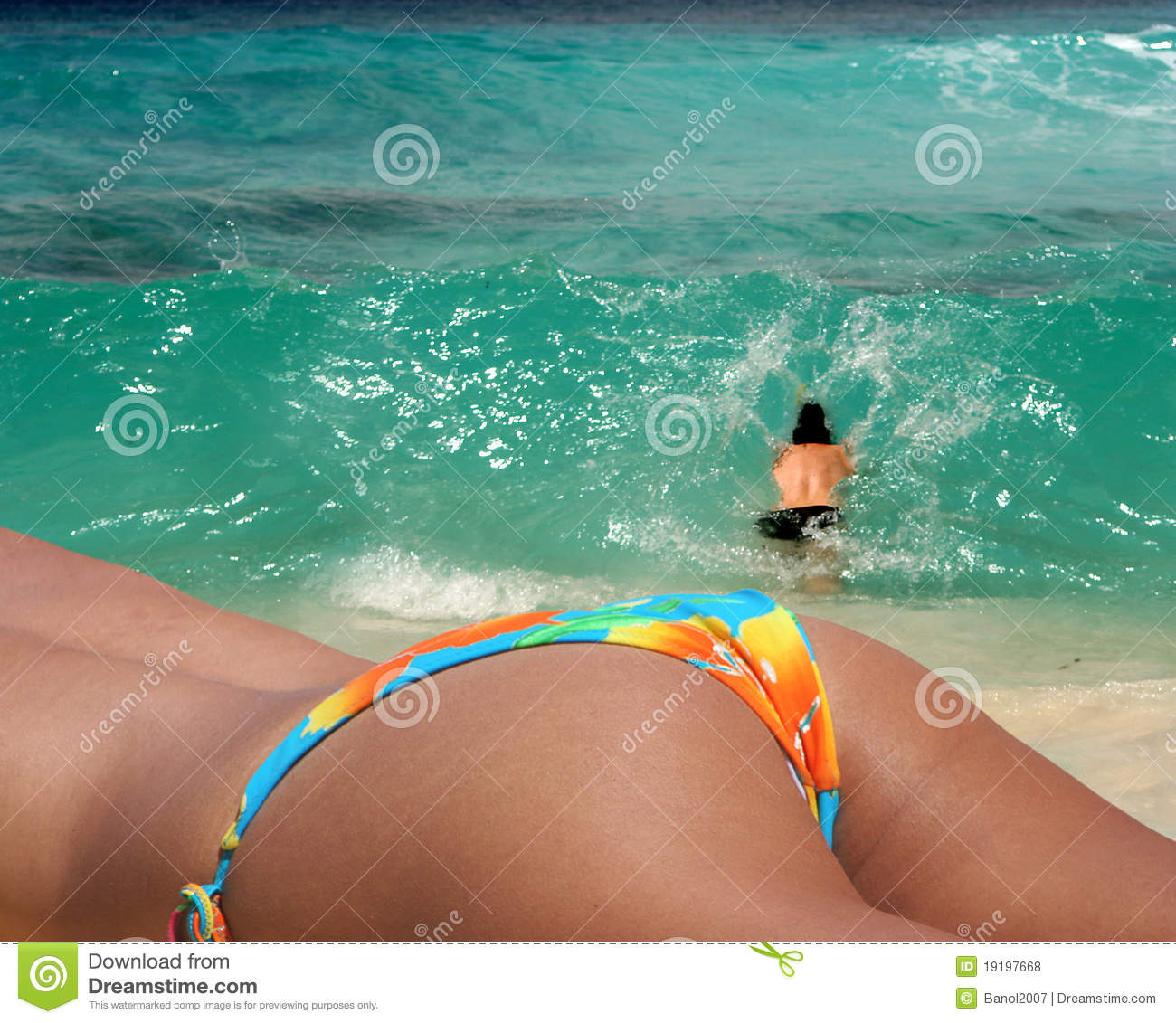 Couple At The Beach Stock Image Image Of Caucasian: Couple Enjoying Paradice Beach Stock Photo