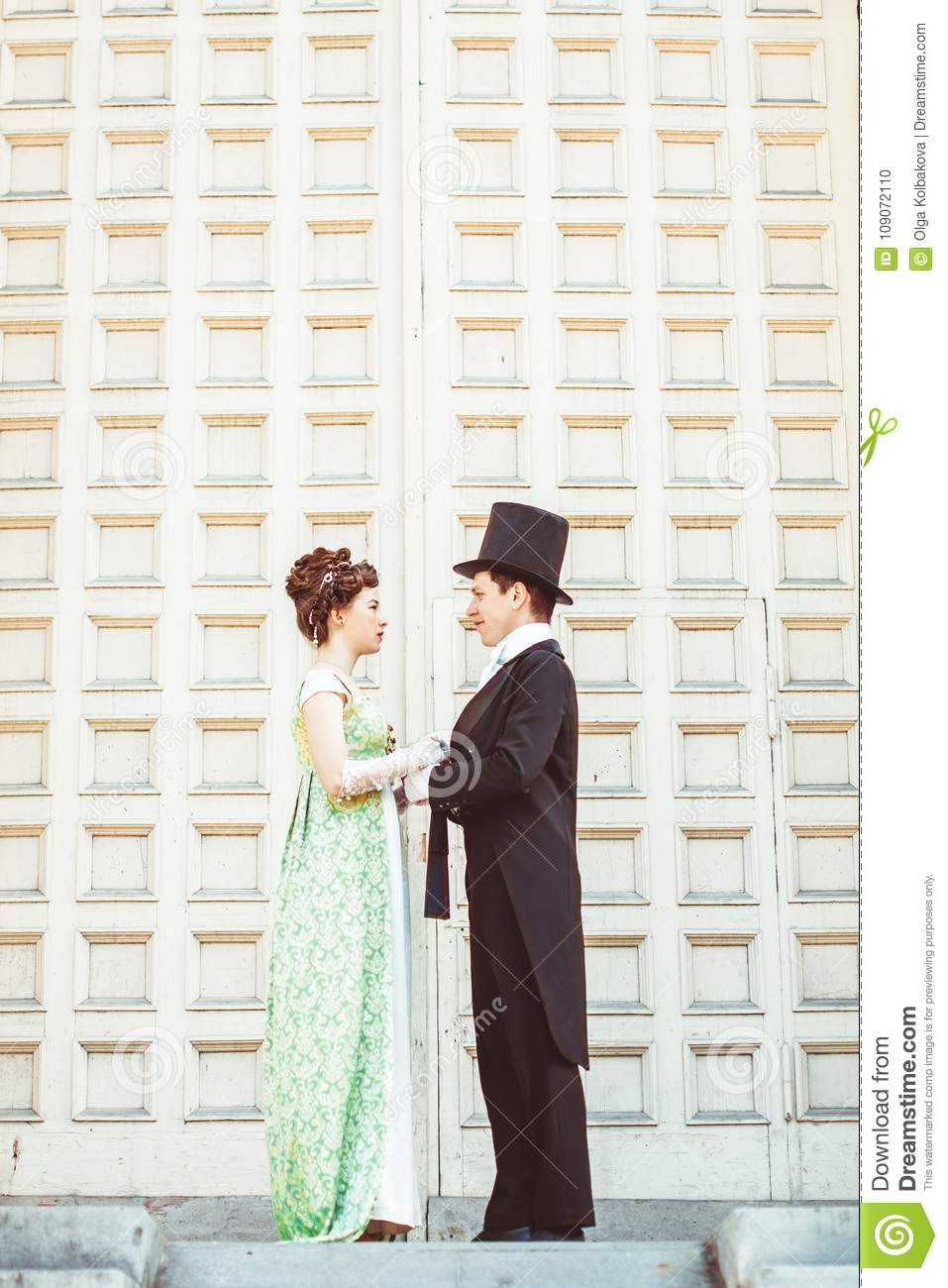 Couple In Evening Clothes Stock Photo Image Of Hairstyle