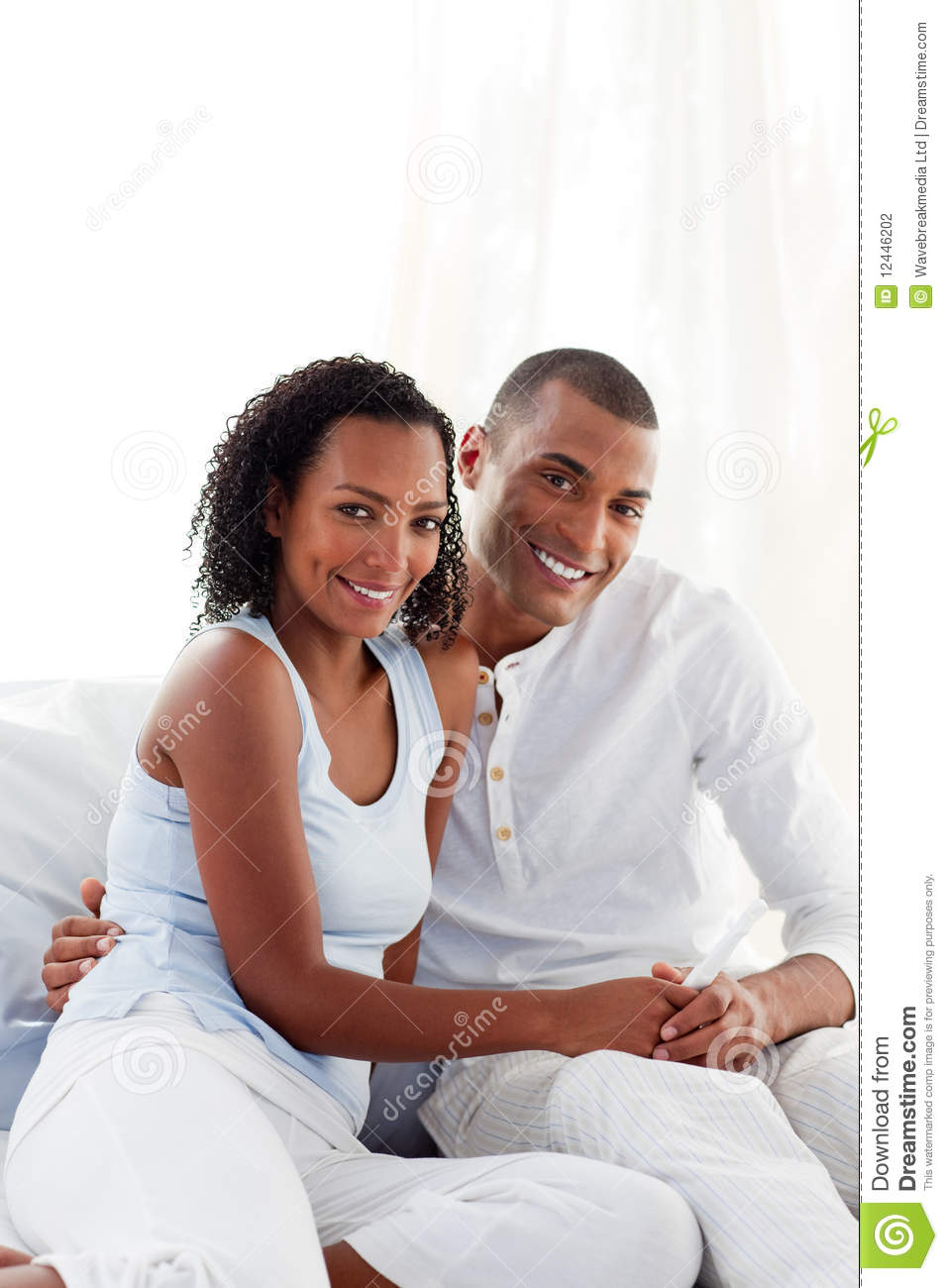 couple finding out results of a pregnancy test royalty free stock photo. Black Bedroom Furniture Sets. Home Design Ideas