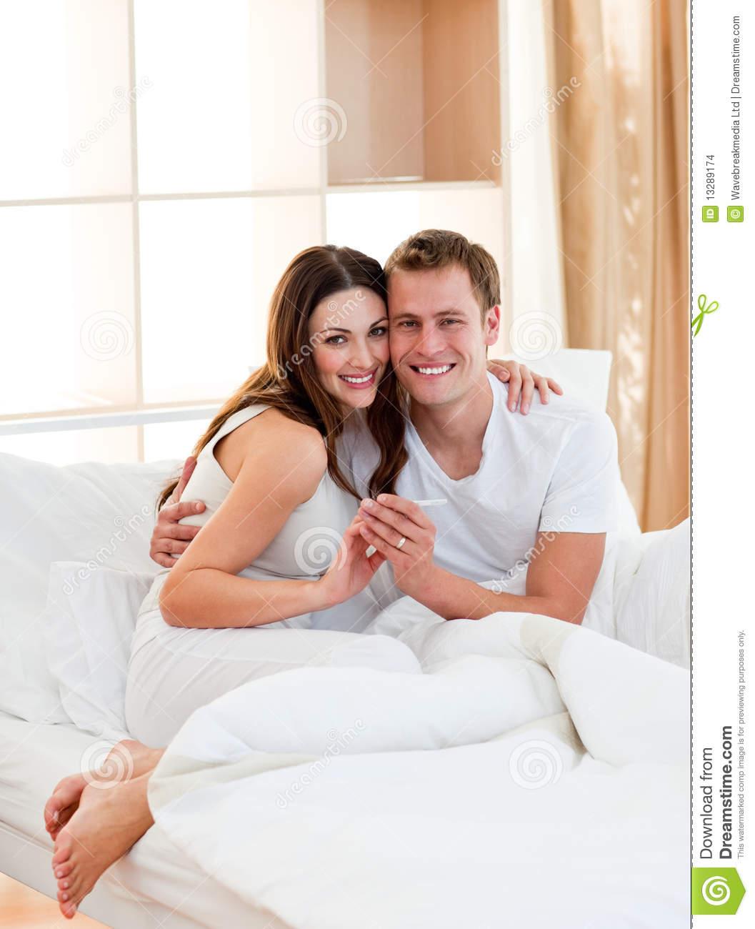 a couple finding out results of a pregnancy test stock photo image 13289174. Black Bedroom Furniture Sets. Home Design Ideas
