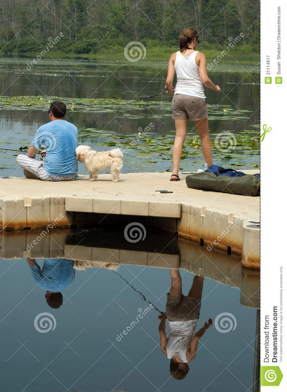 Couple fishing royalty free stock photography image for Fishing times free