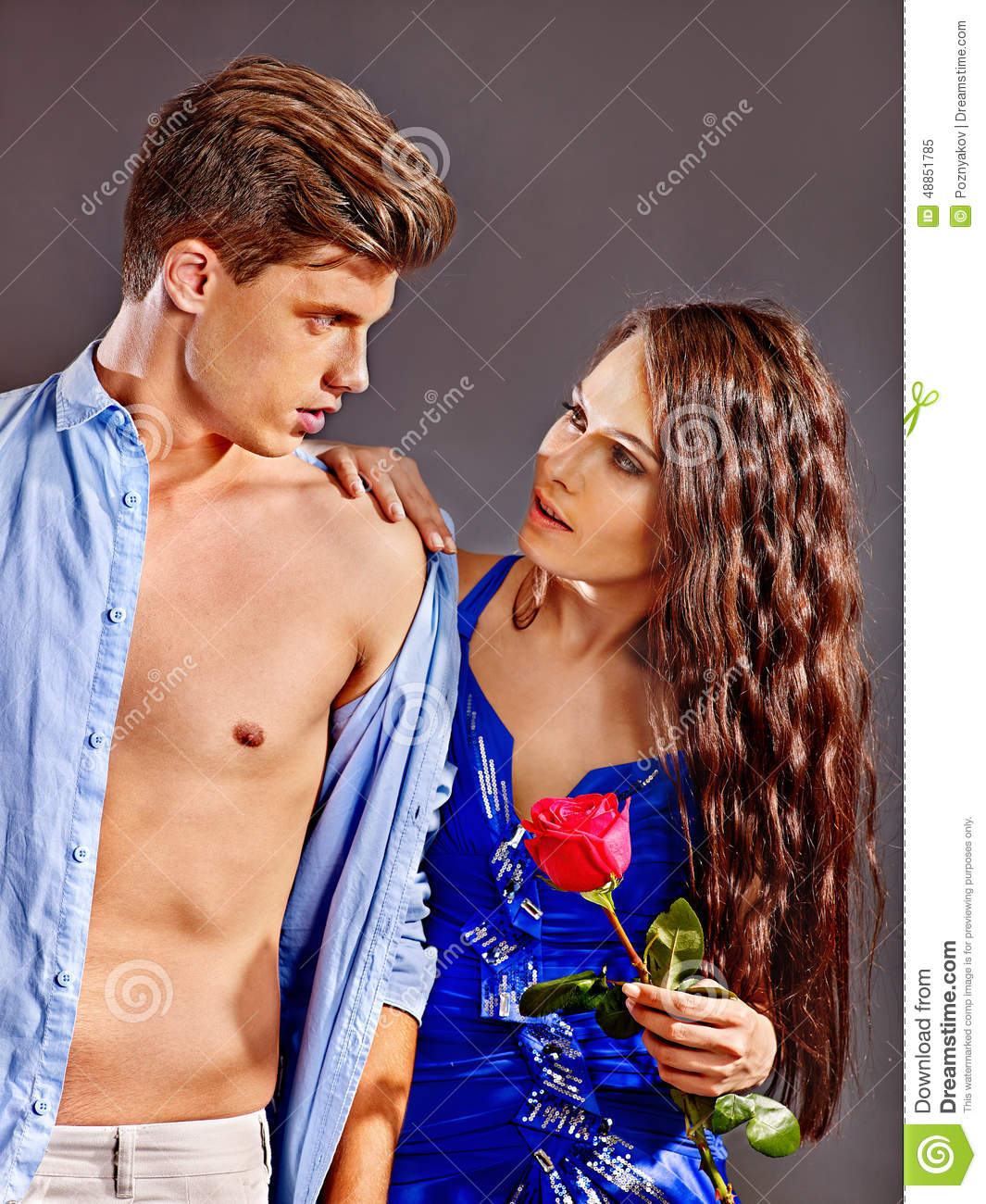 Couple with flower