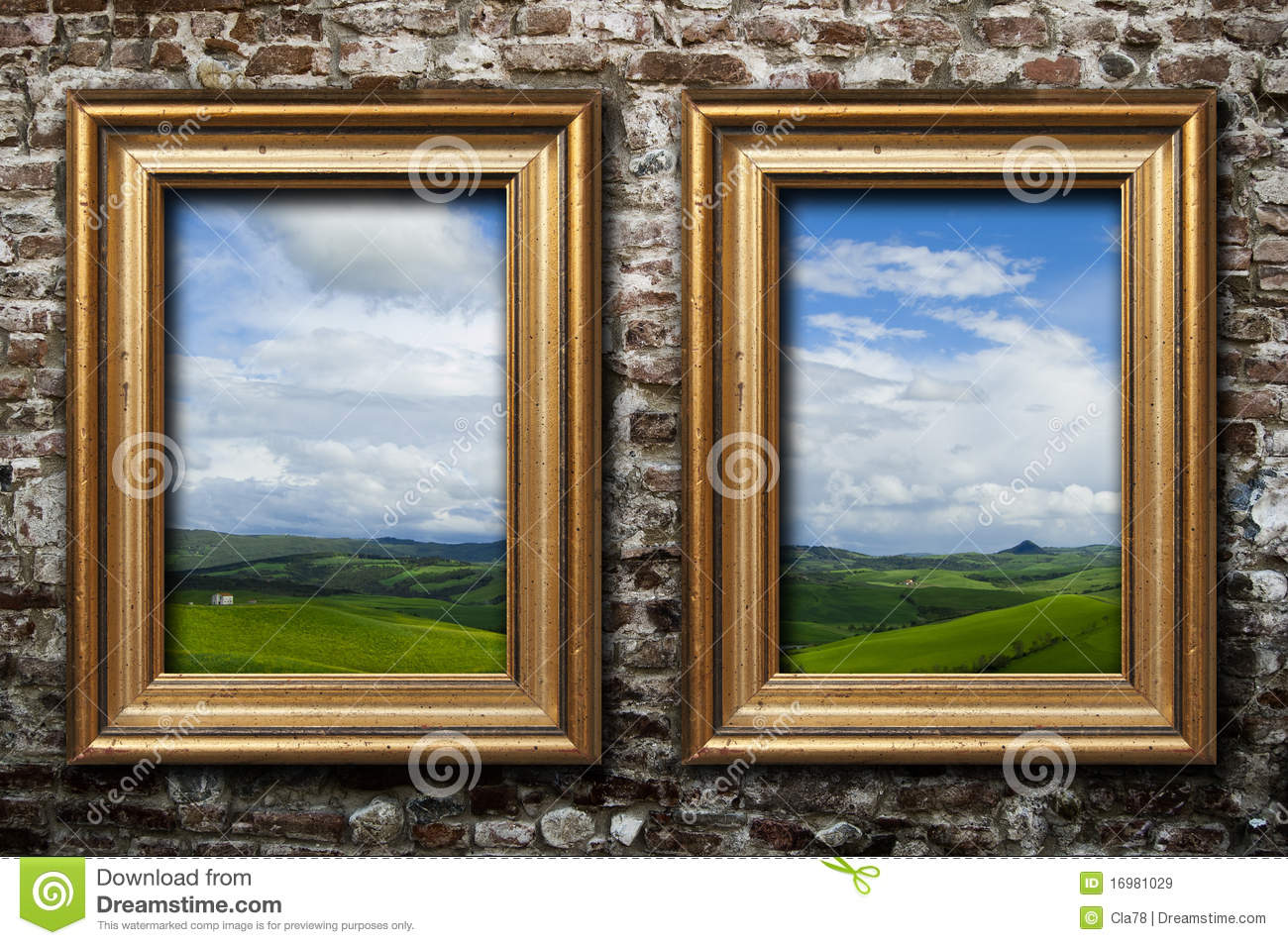 Couple of frames stock image image of brick gallery 16981029 couple of frames jeuxipadfo Choice Image