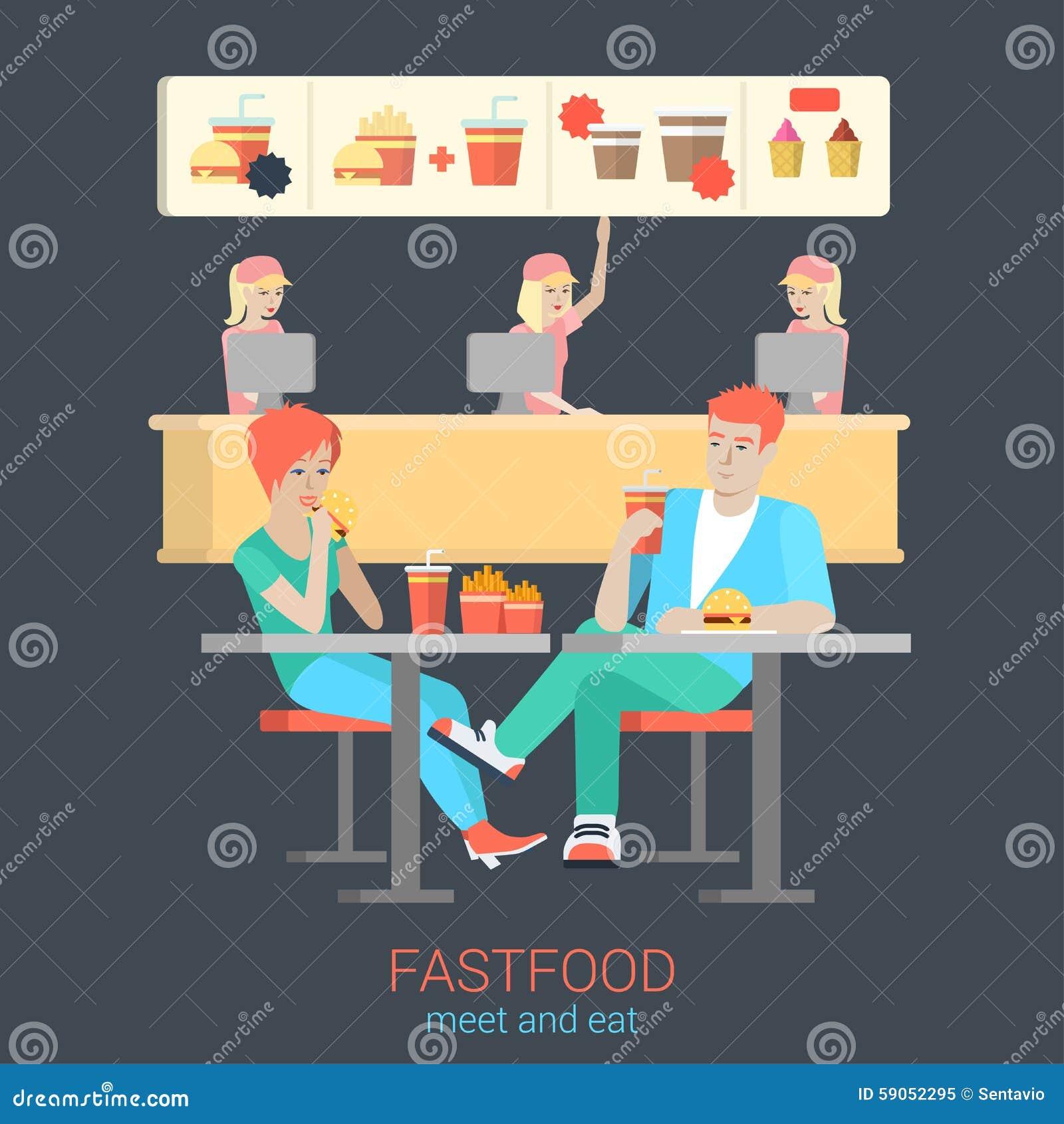Male Cashier At Fast Food Restaurant Cartoon Vector Cartoondealer Com  65828907