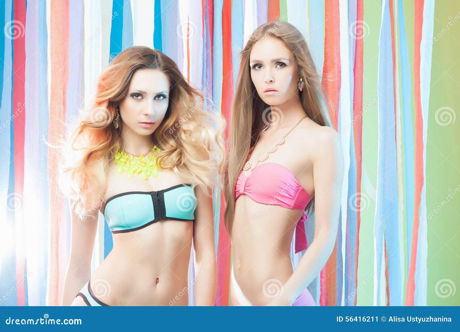 Couple Girls In Bikini Stock Photo