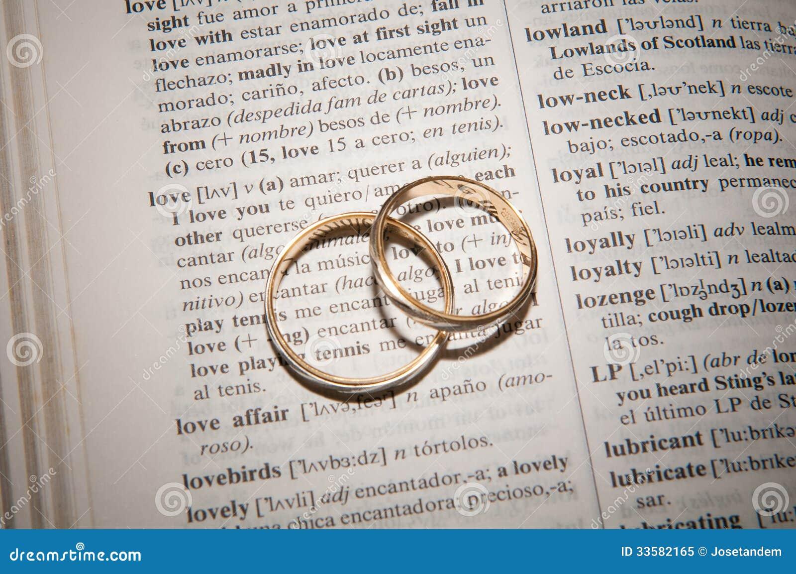 Couple Of Gold Wedding Rings Stock Image Image of honeymoon