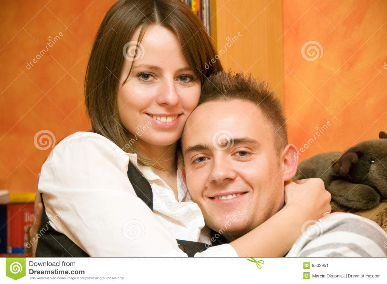 Couple happy