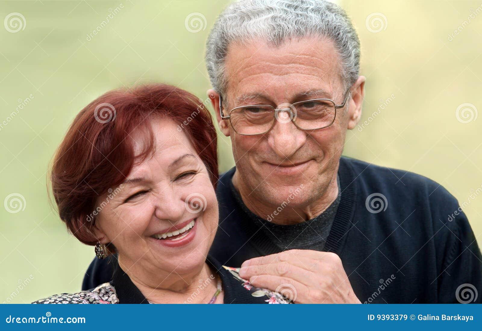 Couple happy senior