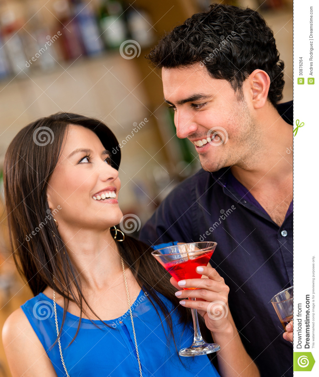Couple Having A Drink Stock Photo. Image Of Cocktails