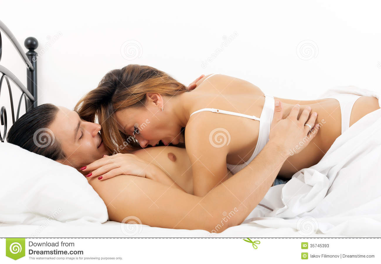 Couple Having Sex On Bed Stock Photos - Image 35745393-9382