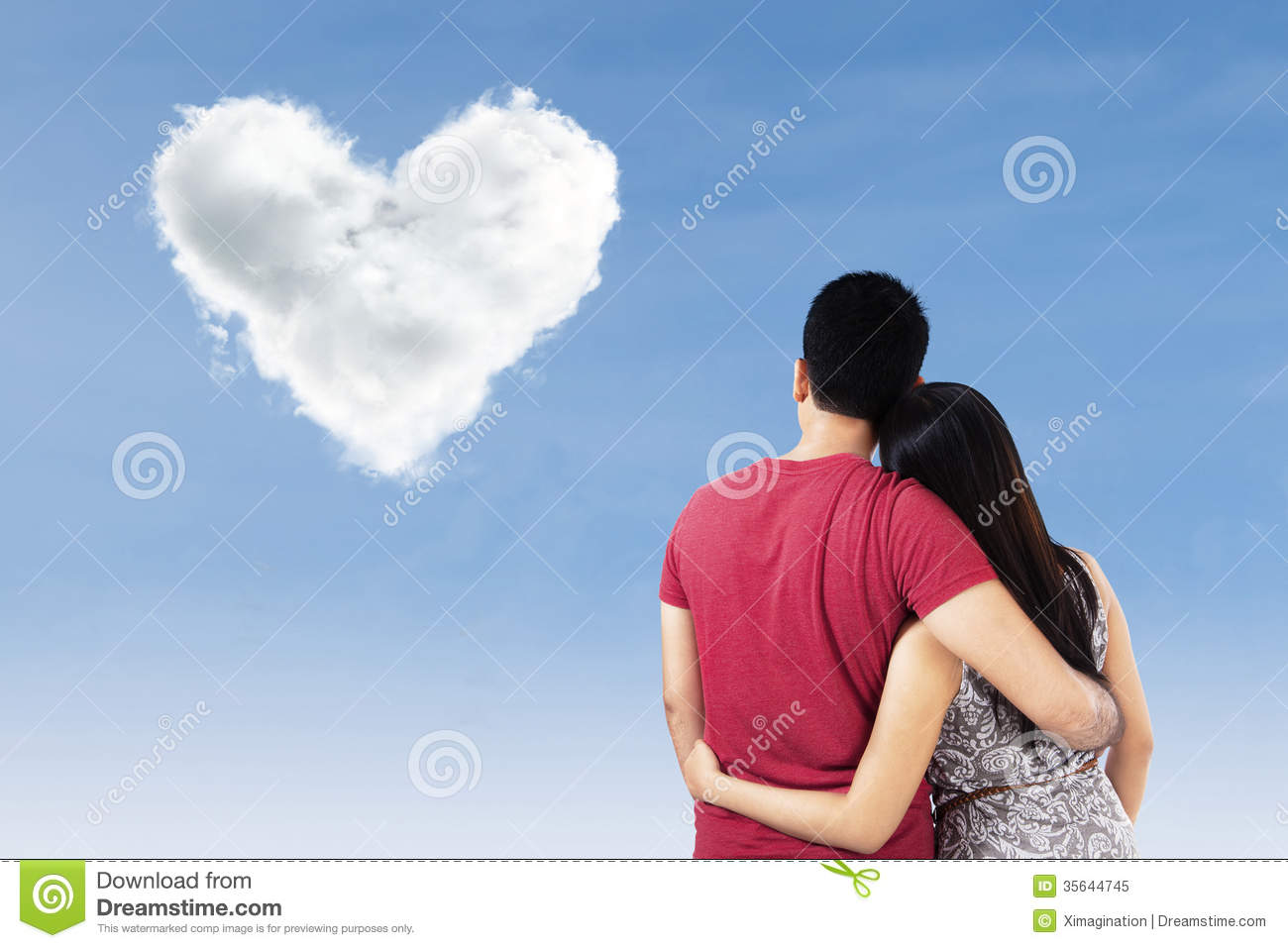 Malaysian People Clipart Couple With Heart Shap...