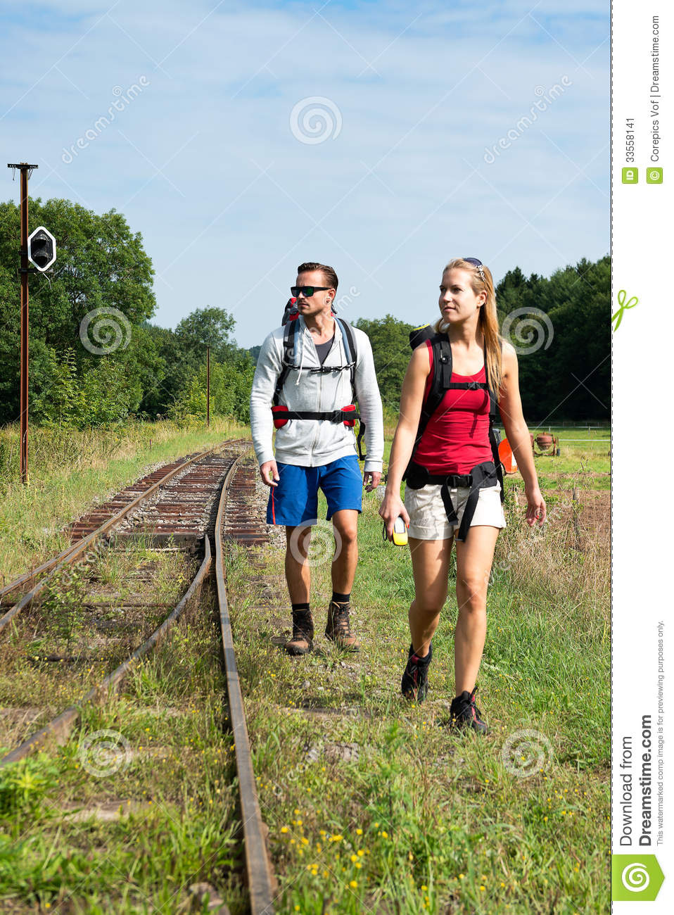 Couple Hiking Stock Image Image Of Healthy Blonde