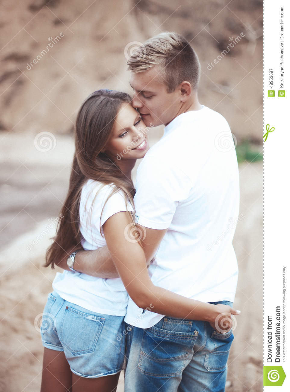 Couple Holding Hands Each Other Stock Photos