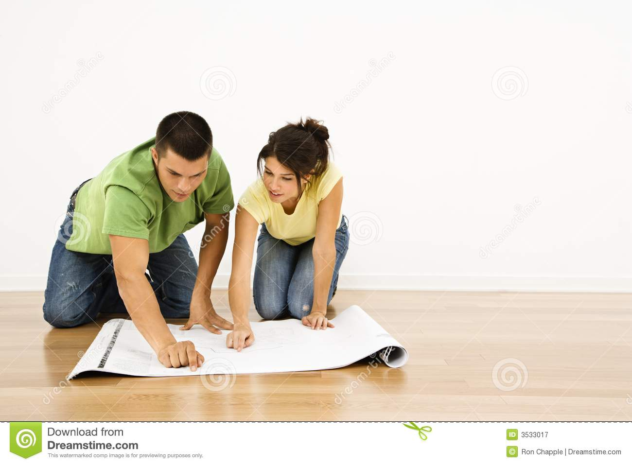 Couple With House Plans  Royalty Free Stock Photography   Image    Couple   house plans