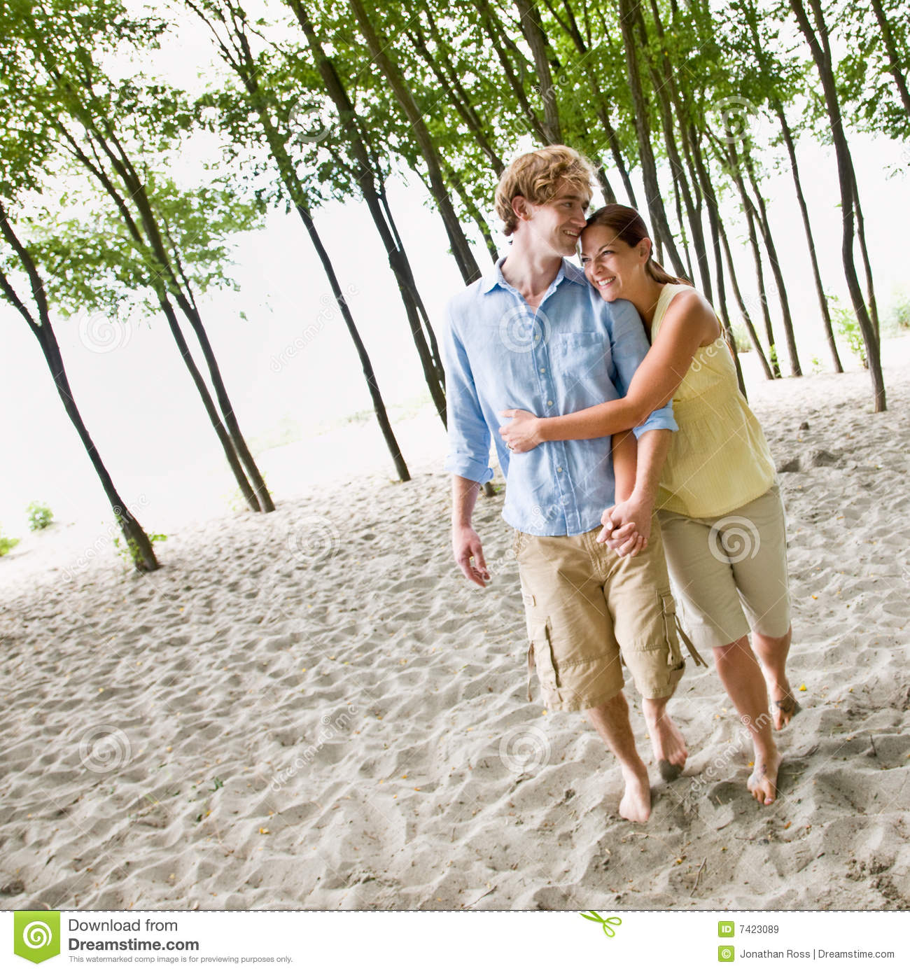 Couple At The Beach Stock Image Image Of Caucasian: Couple Hugging At Beach Stock Image. Image Of Natural