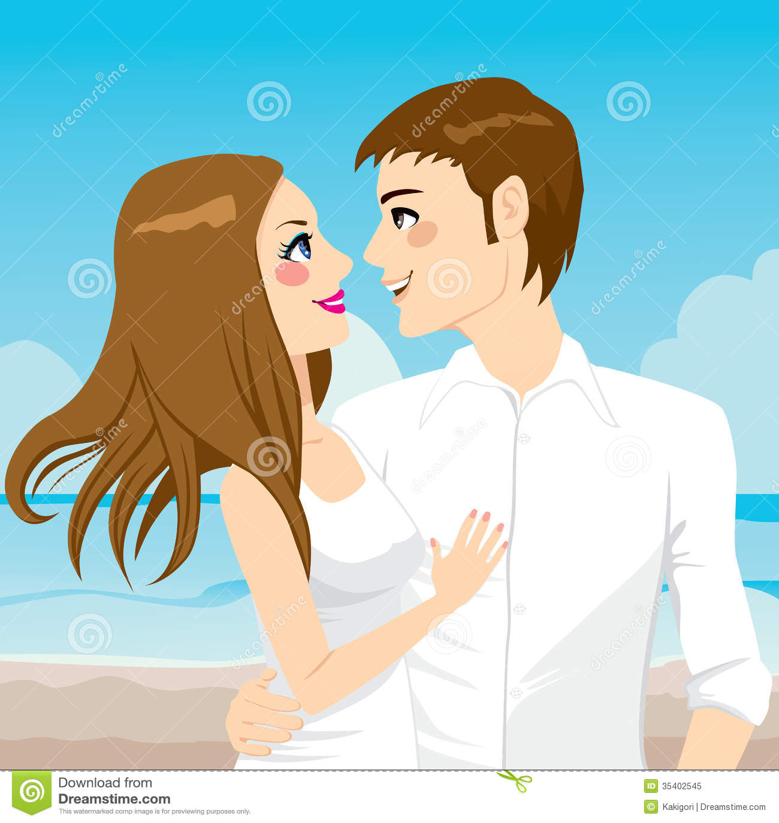 Couple Hugging On Beach Royalty Free Stock Photo
