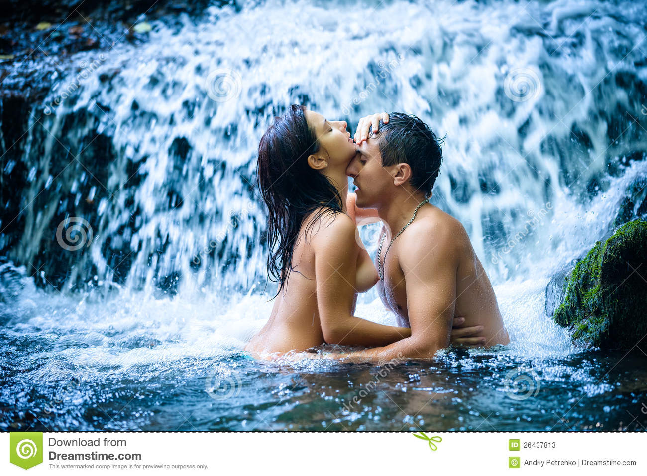 naked sex couples in the waterfall