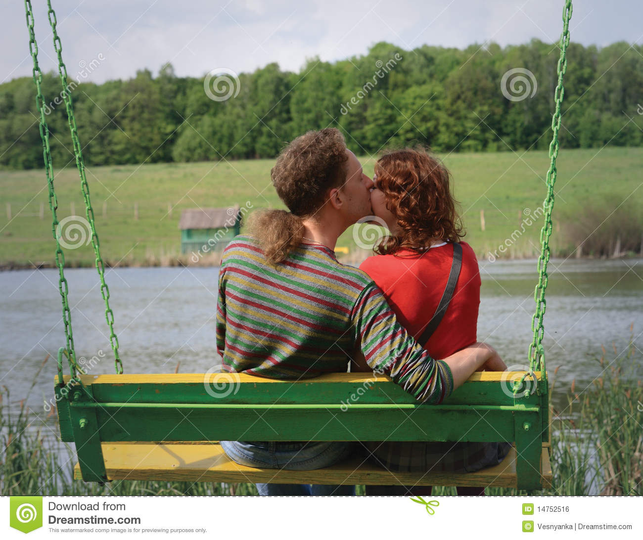 Couple Kissing Stock Photo. Image Of Pair, Hombre