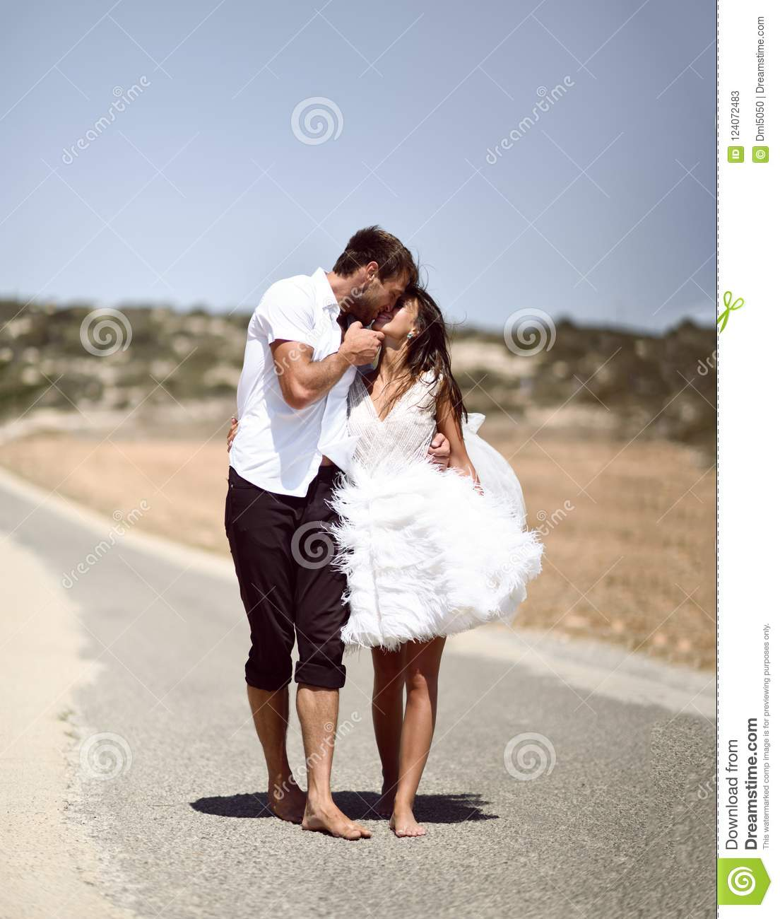 Couple Kissing Hugging Walking On A Road Together Hold Hands Romantic Vacation Honeymoon Love Story Stock Image Image Of Dating Ocean 124072483