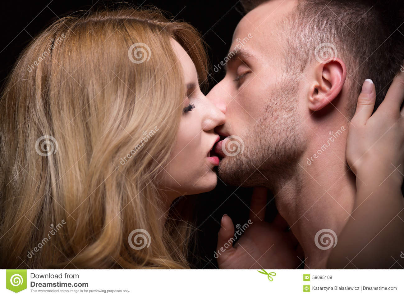 Naked couple lips kiss never impossible