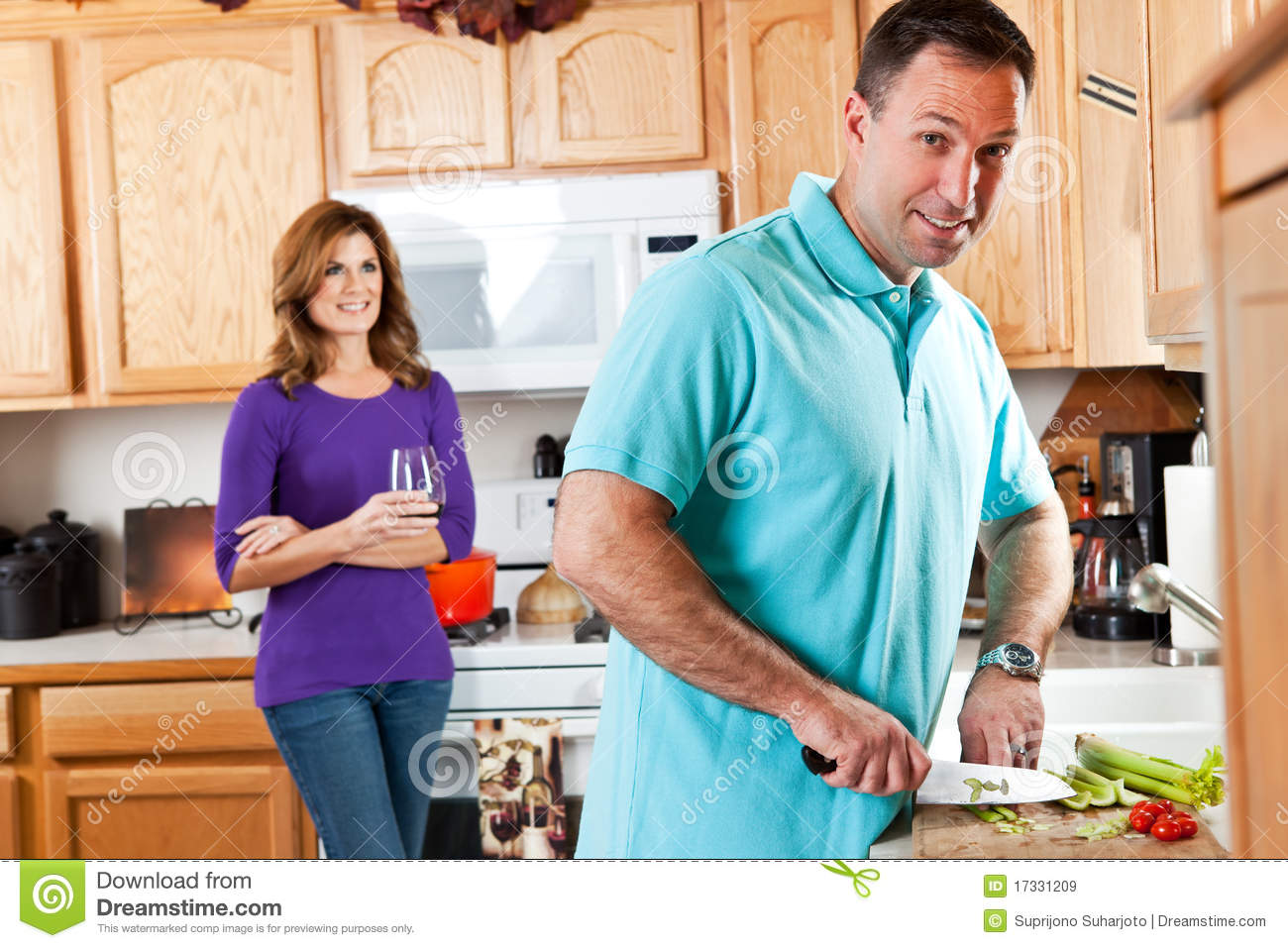 House Plans Magazine Couple In Kitchen Royalty Free Stock Images Image 17331209