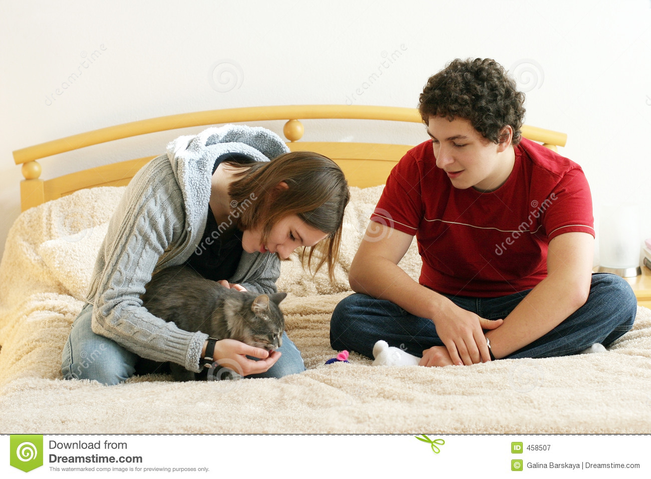 Couple with a kitten