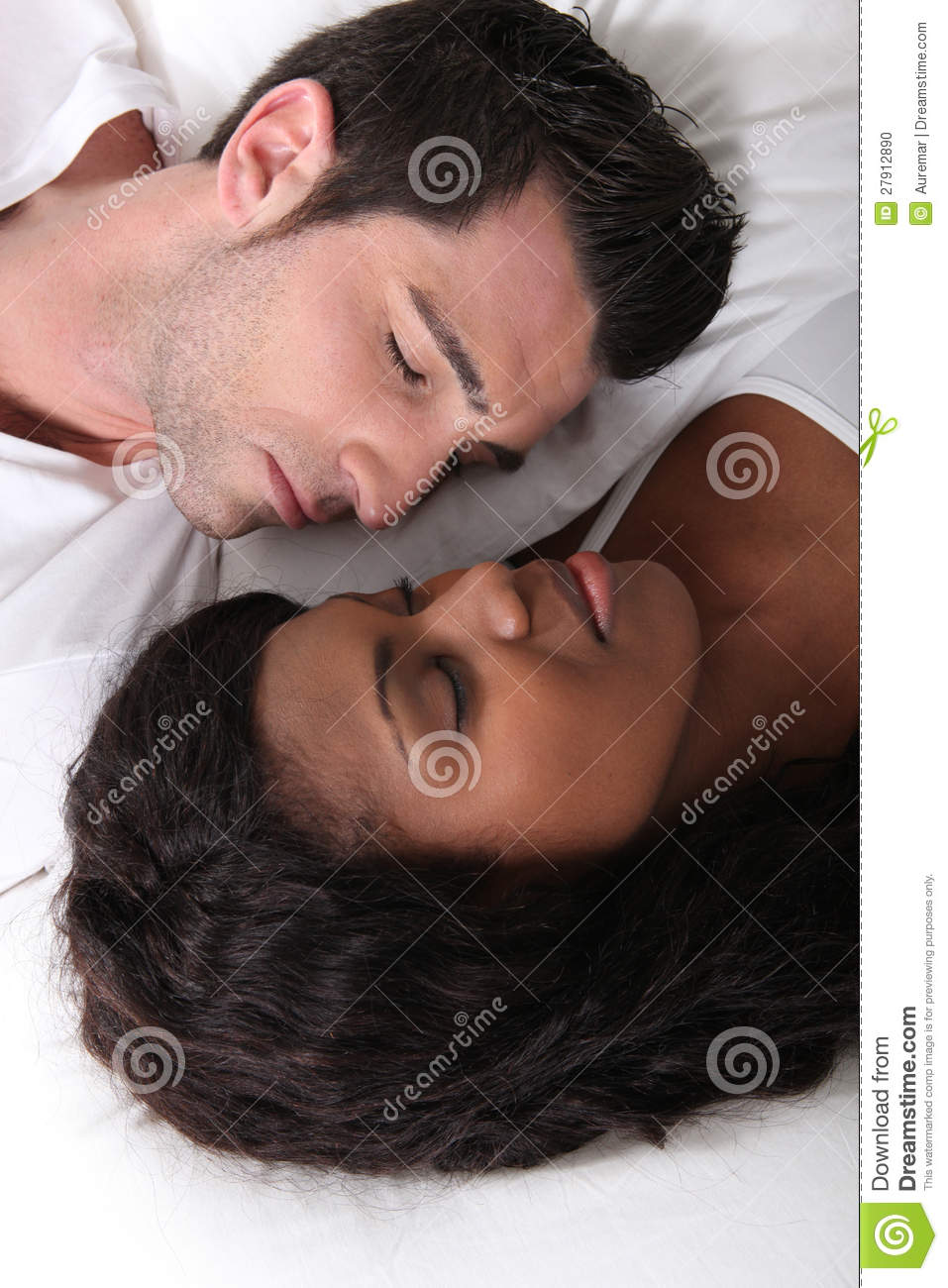 couple laying in bed stock photo image 27912890. Black Bedroom Furniture Sets. Home Design Ideas