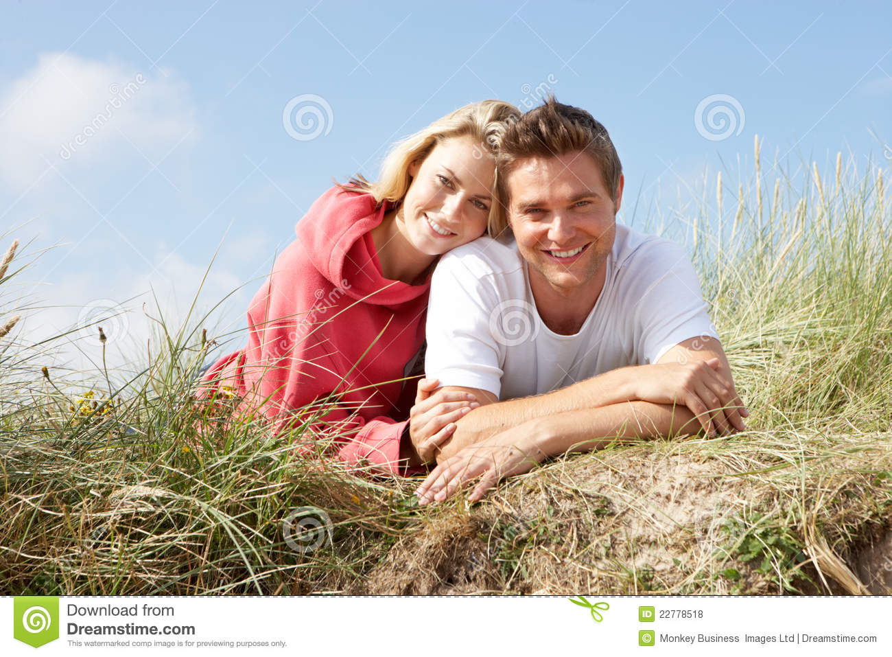 Couple Laying On Sand Dunes Stock Photo - Image of couple fa05d2b5d71