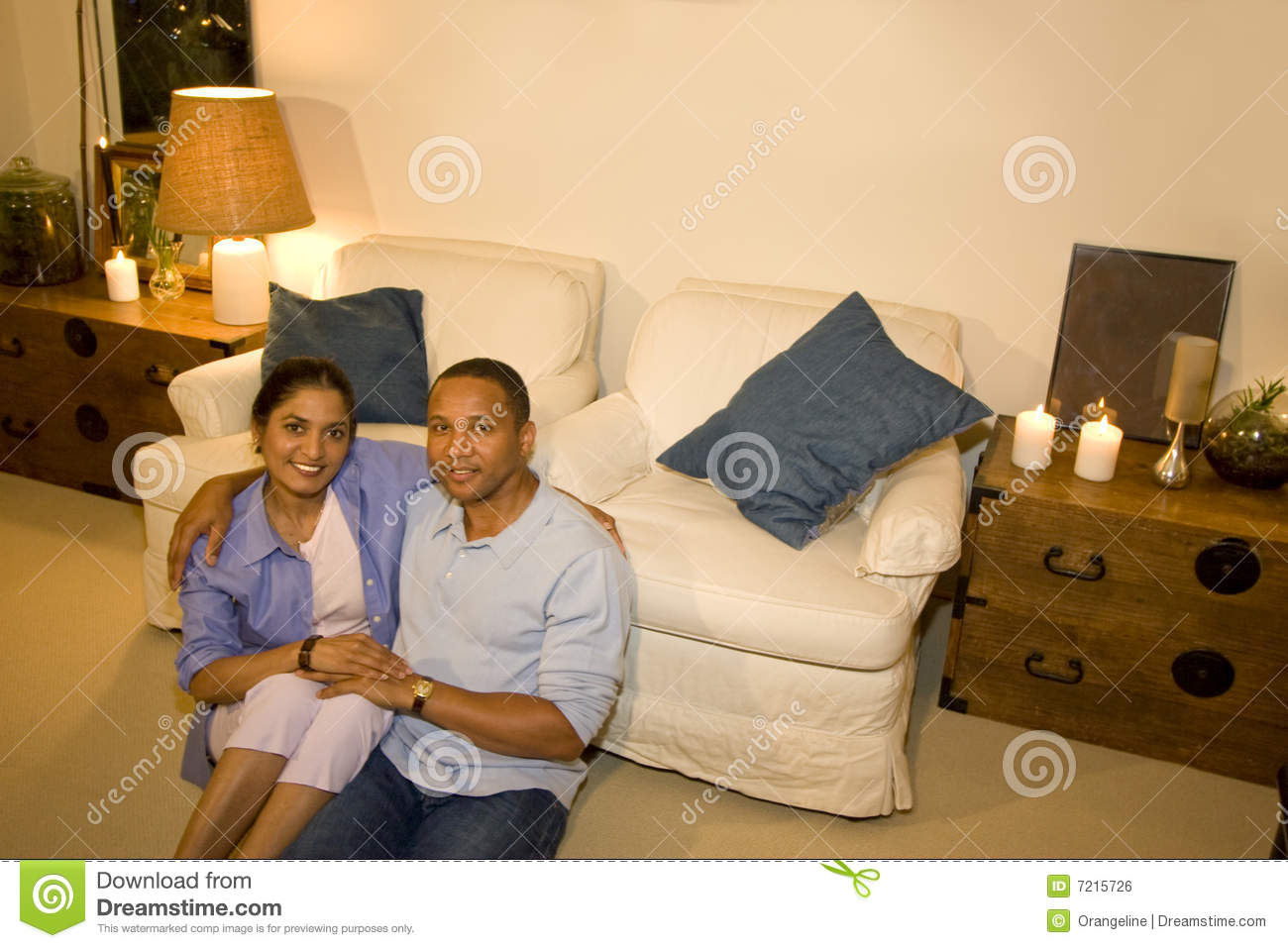 Couple In Living Room Stock Photo Image Of Calm Midlife